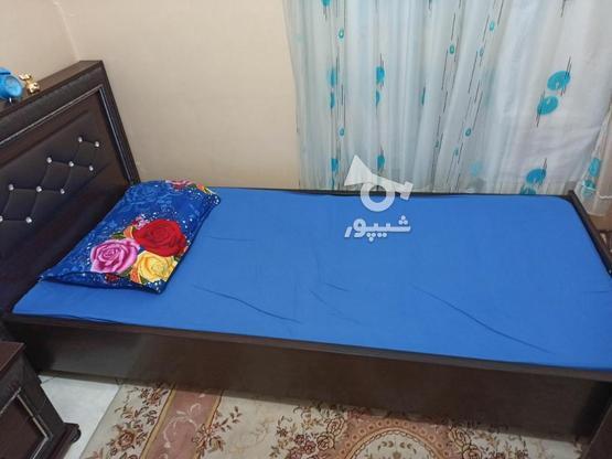 تخت یک نفره بدون تشک وکفی به همراه کمد وکنار تختی در گروه خرید و فروش لوازم خانگی در تهران در شیپور-عکس5