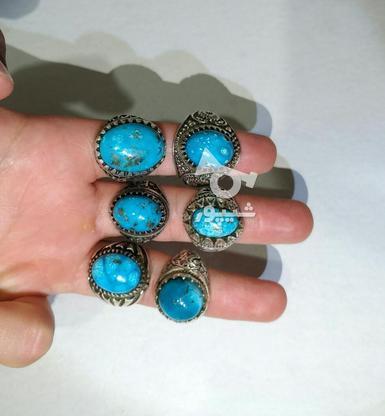انگشتر نقره فیروزه در گروه خرید و فروش لوازم شخصی در کرمان در شیپور-عکس3