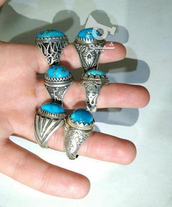 انگشتر نقره فیروزه در گروه خرید و فروش لوازم شخصی در کرمان در شیپور-عکس4