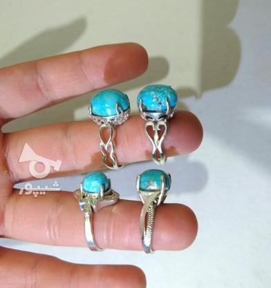 انگشتر نقره فیروزه در گروه خرید و فروش لوازم شخصی در کرمان در شیپور-عکس5