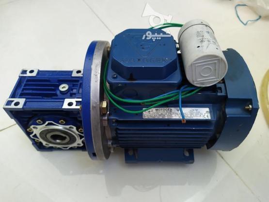 الکتروموتور (دینام) مارک موتوژن همراه با گیربکس در گروه خرید و فروش صنعتی، اداری و تجاری در خوزستان در شیپور-عکس1
