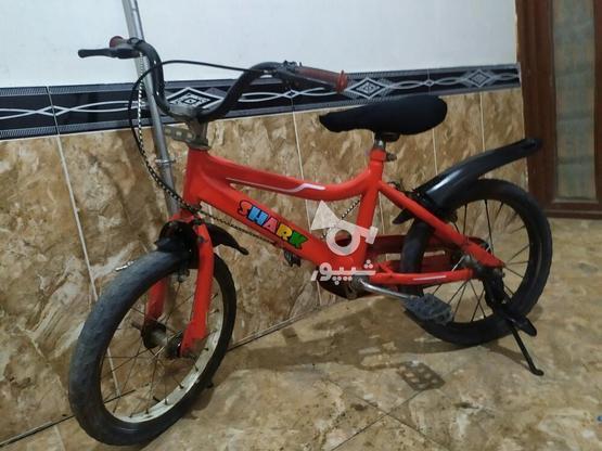 دوچرخه سایز 16 تمیز در گروه خرید و فروش ورزش فرهنگ فراغت در آذربایجان غربی در شیپور-عکس6