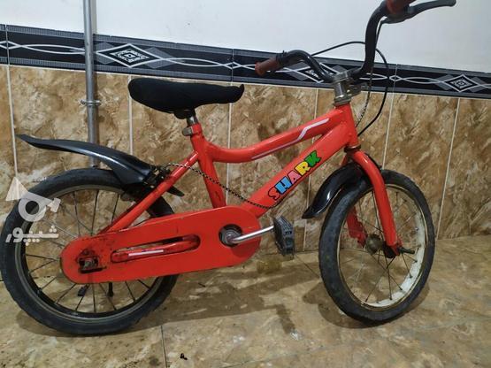 دوچرخه سایز 16 تمیز در گروه خرید و فروش ورزش فرهنگ فراغت در آذربایجان غربی در شیپور-عکس4