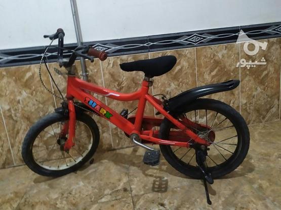 دوچرخه سایز 16 تمیز در گروه خرید و فروش ورزش فرهنگ فراغت در آذربایجان غربی در شیپور-عکس1